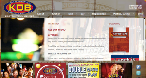 KDB Easton Menu Module